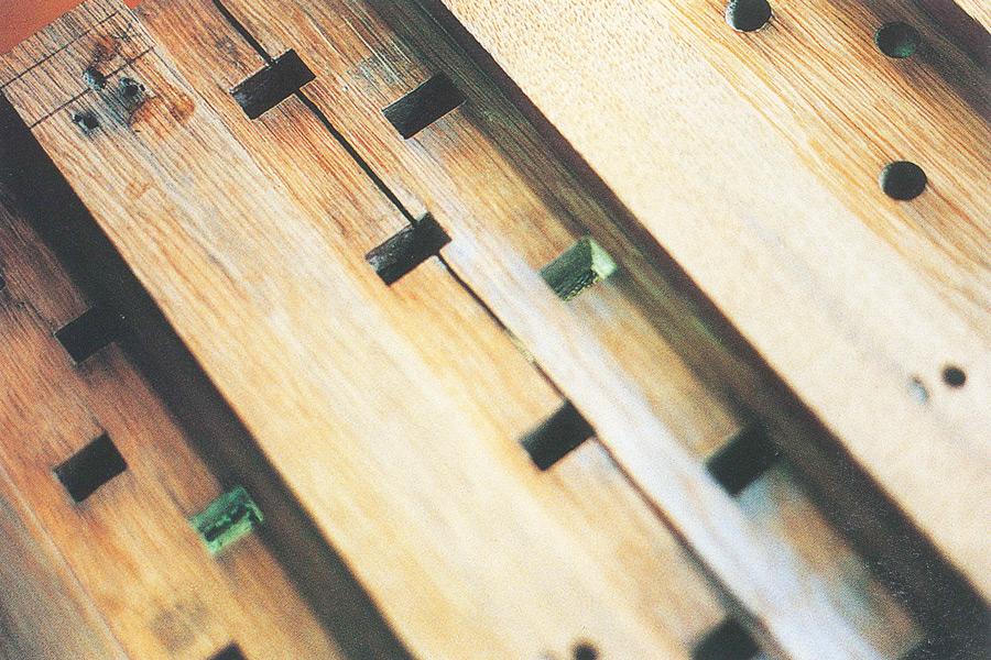 Table des sommiers de pédales fendues