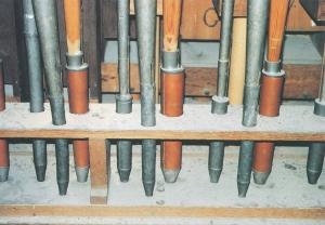 tuyauterie de pédale, avant restauration