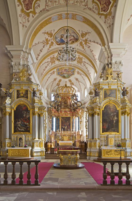 Transept et chœur abbatiale