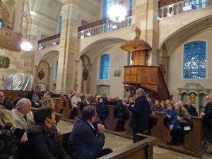 Visite guidée : présentation de la chaire à prêcher, restaurée avec la participation financière du Fonds Martel-Catala.