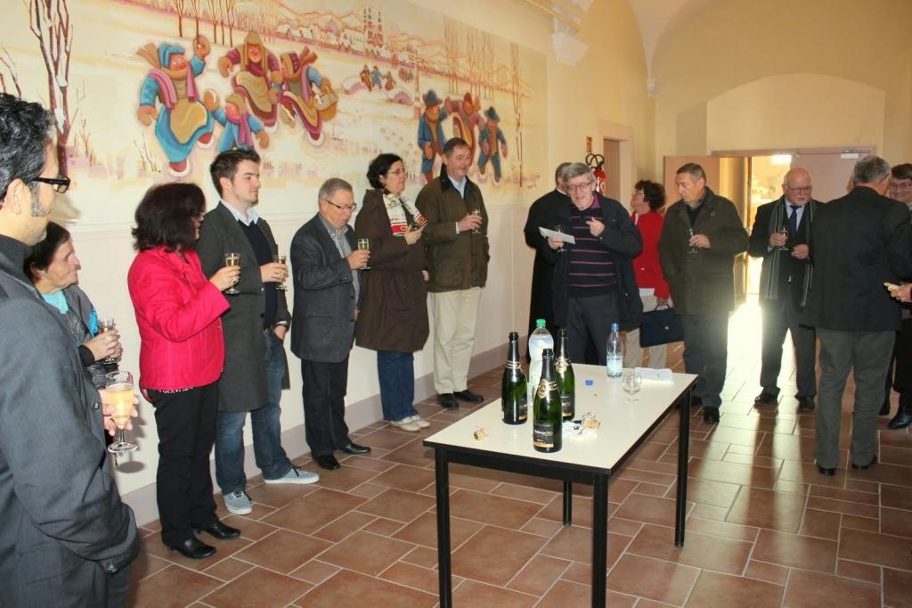 Réception en présence des représentants de la paroisse, du conseil de fabrique, de la commune et des amis de l'abbatiale