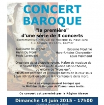 14 juin 2015 – Concert baroque de la Maîtrise de Garçons de Colmar